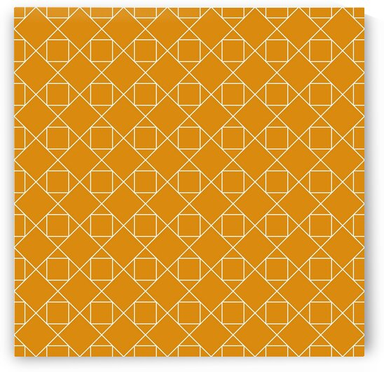 Orange Diamonds Pattern  by rizu_designs