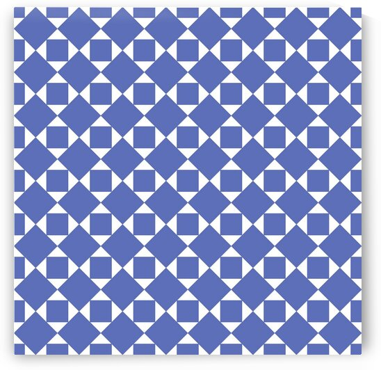 Royal Blue Squares And Diamonds Pattern by rizu_designs