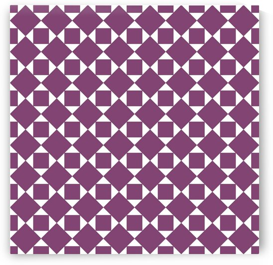 Burgundy Squares And Diamonds Pattern by rizu_designs