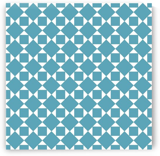 Turquoise Squares And Diamonds Pattern by rizu_designs