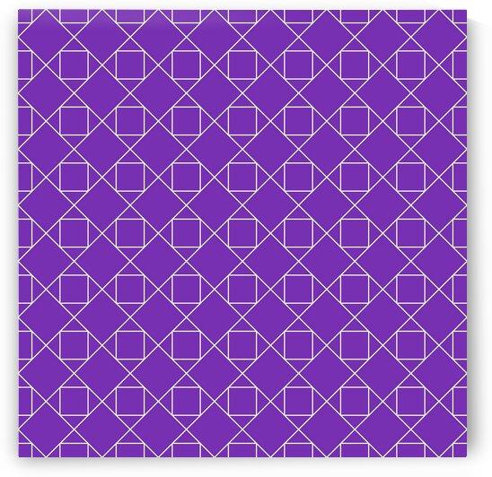 Purple Squares And Diamonds Pattern by rizu_designs
