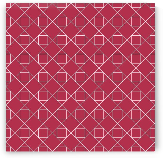 Red Squares And Diamonds Pattern by rizu_designs