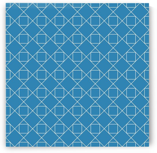 Azure Squares And Diamonds Pattern by rizu_designs
