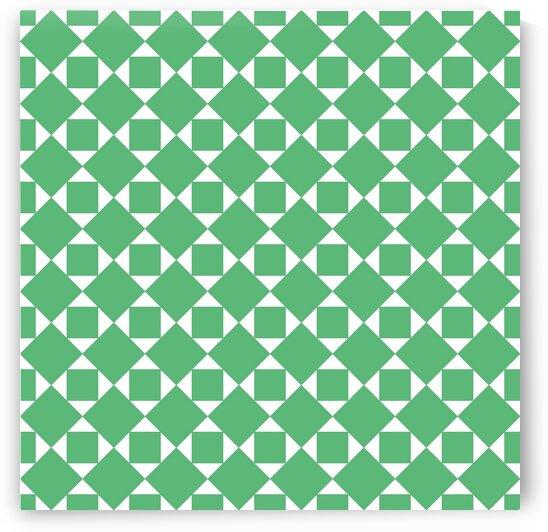 Dark Green Geometric Pattern by rizu_designs