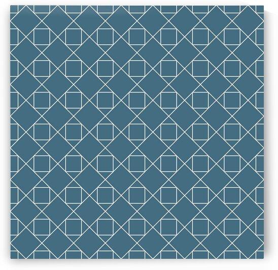 Navy Blue Geometric Pattern by rizu_designs