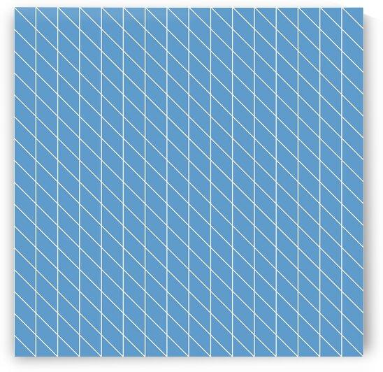 Royal Blue Checkers Pattern by rizu_designs