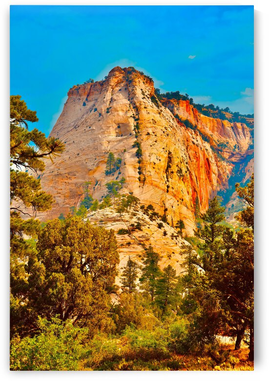 Majestic Rock ... Zion National Park  Utah by Fred J Bivetto