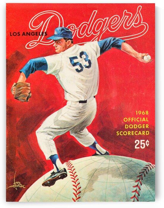1968 Don Drysdale LA Dodgers Art by Row One Brand