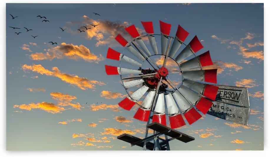 Old Red and Silver Windmill Edit LuminarAI edit by Darryl Brooks