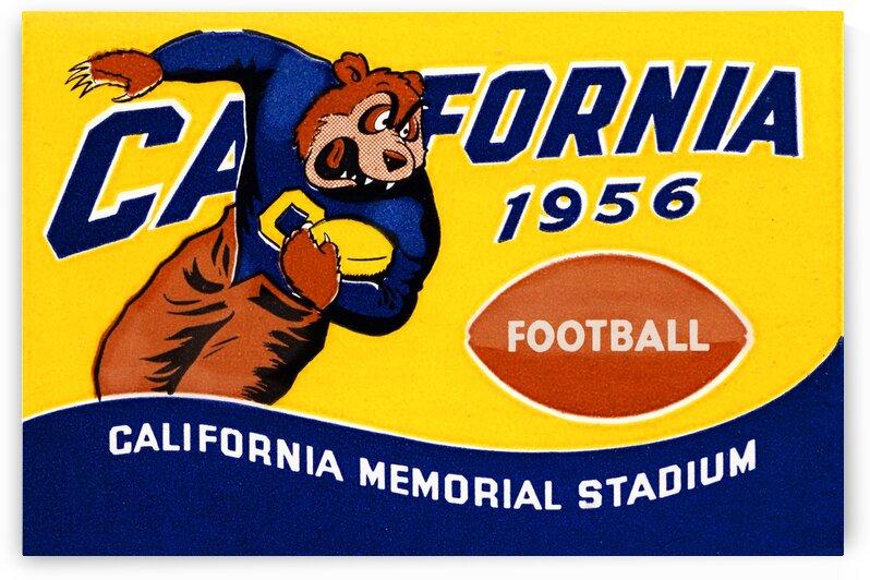 1956 Cal Bears Football Metal Sign by Row One Brand