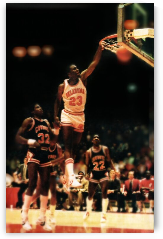 1983 Oklahoma Sooners Basketball Wayman Tisdale Poster by Row One Brand