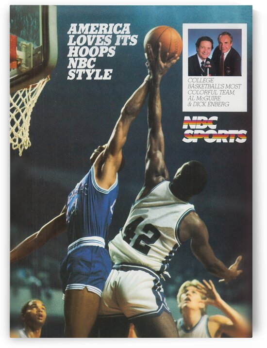 1986 NBC College Basketball Ad Poster by Row One Brand