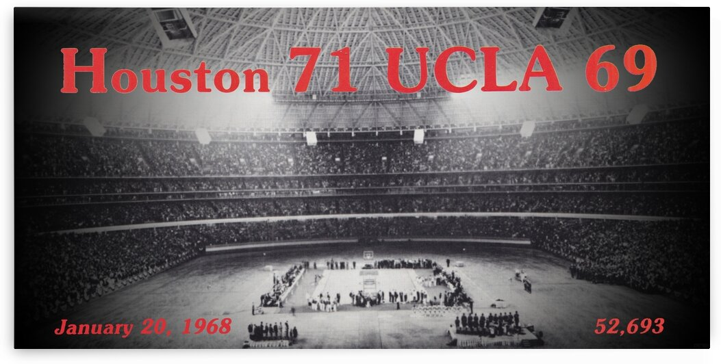 1968 Houston UCLA Basketball Game at the Astrodome by Row One Brand