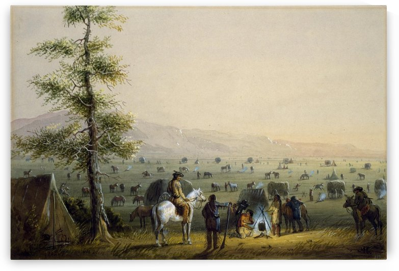 Our Camp by Alfred Jacob Miller