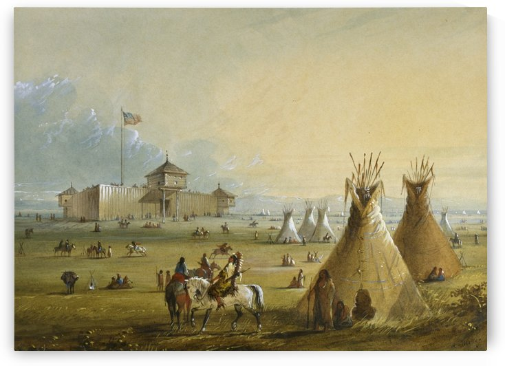 Fort Laramie by Alfred Jacob Miller