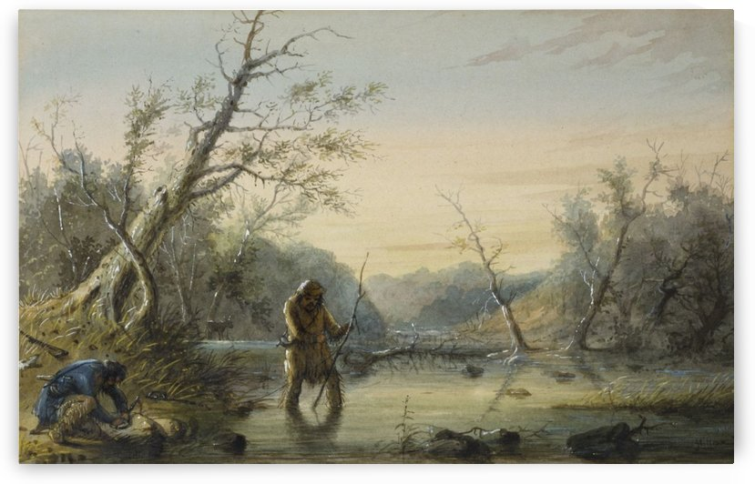 Trapping Beaver by Alfred Jacob Miller
