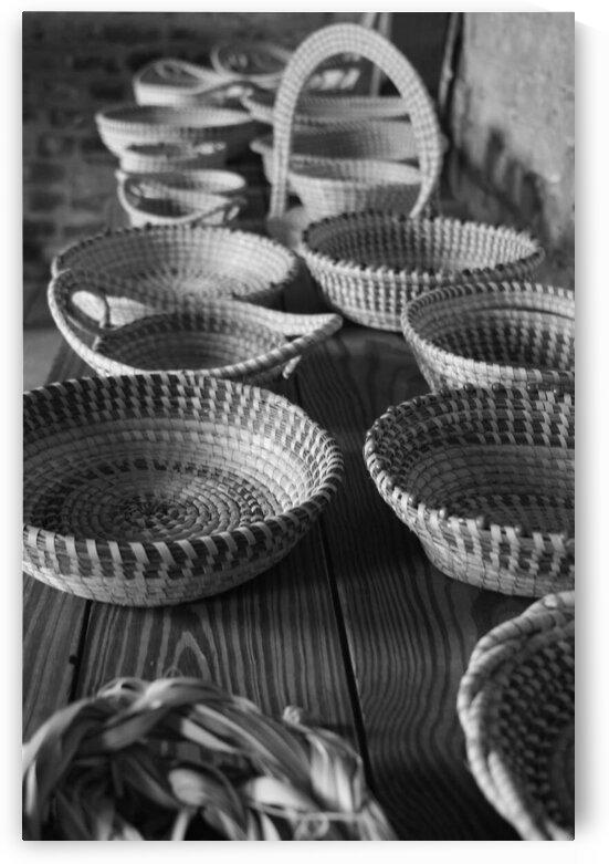 Sweet Grass Baskets - B&W by Adam Mobley