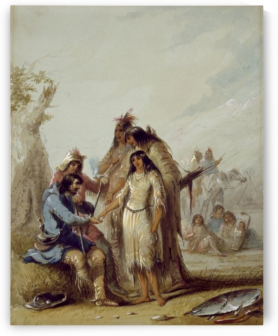 The Trapper Bride by Alfred Jacob Miller