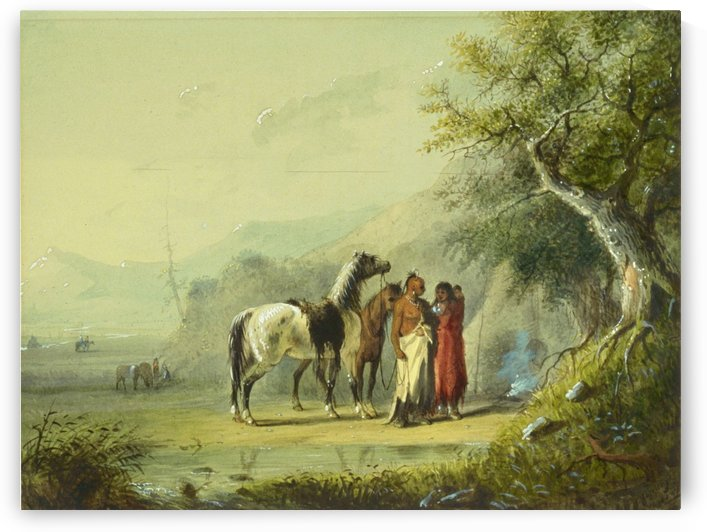 Camp Scene by Alfred Jacob Miller