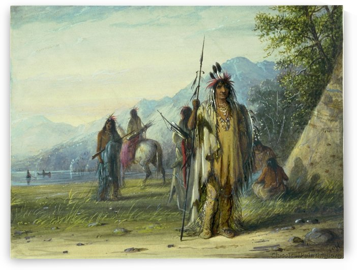 Snake Indian Camp by Alfred Jacob Miller