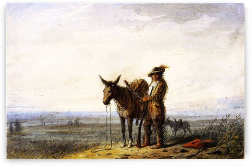 Old Bill Burrows a Free Trapper by Alfred Jacob Miller