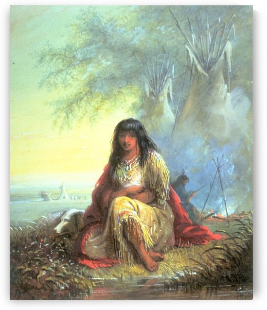 Indian Girl by Alfred Jacob Miller