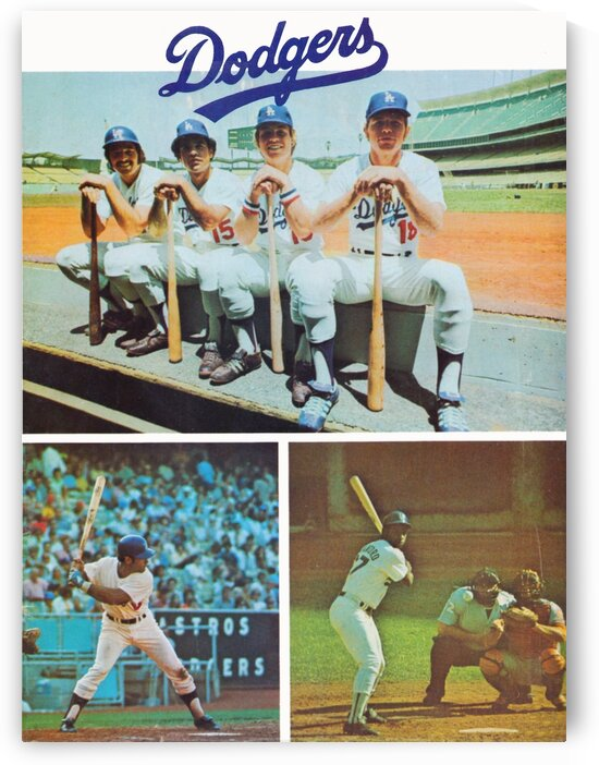 1974 LA Dodgers Baseball Poster by Row One Brand