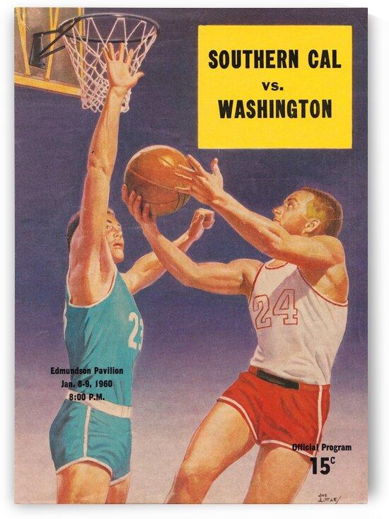 1960 Washington vs. USC basketball program by Row One Brand