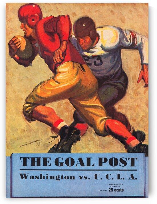 1938 Washington vs. UCLA Football Program Cover Art by Row One Brand