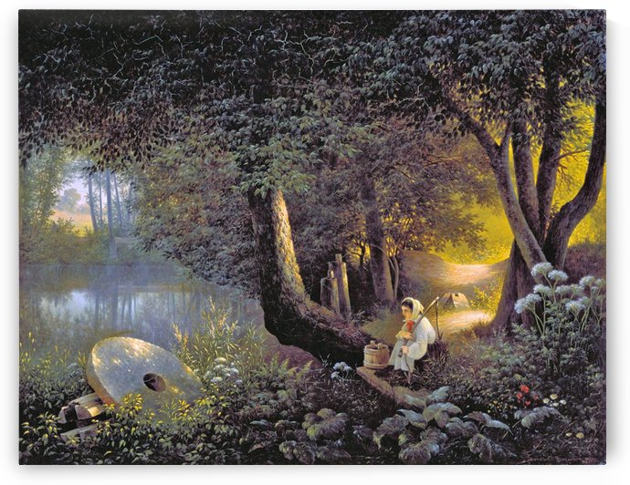 The Old Mill by Alfred Jacob Miller