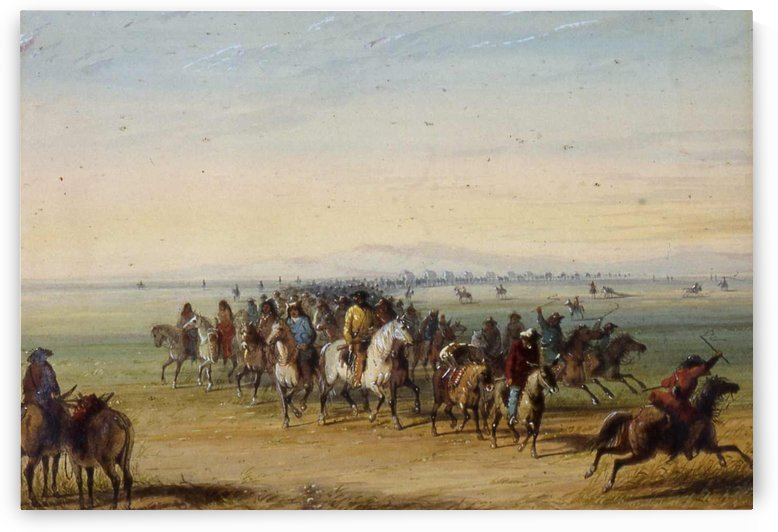 Caravan en Route by Alfred Jacob Miller