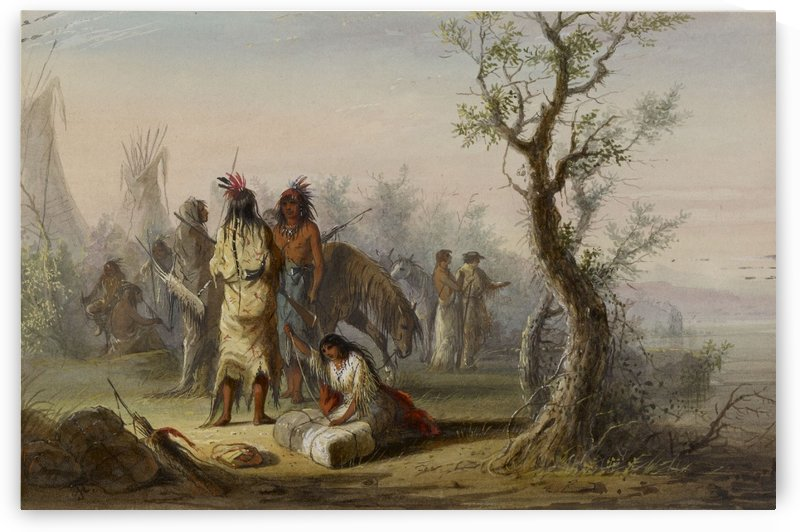 An Indian Camp by Alfred Jacob Miller