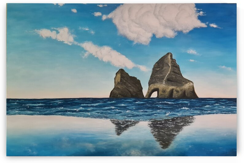 Seascape - Original oil painting by Princely Ashisha