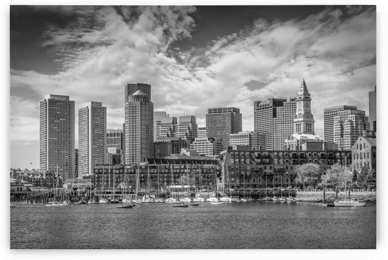 BOSTON Skyline North End & Financial District | Monochrome by Melanie Viola