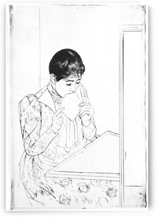 The Letter 2 by Cassatt by Cassatt