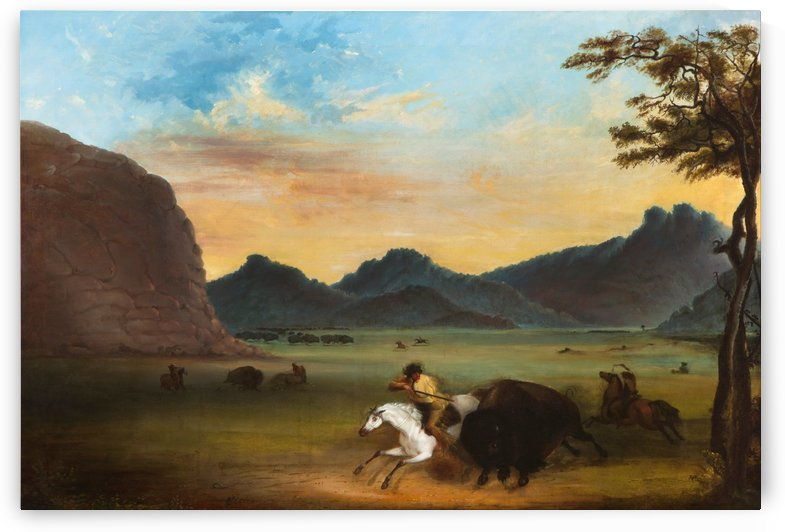 Buffalo Hunt by Alfred Jacob Miller