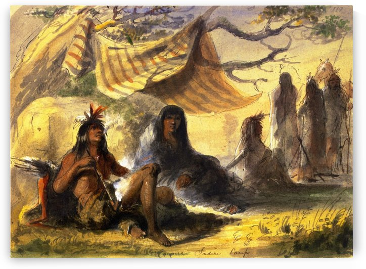 Pawnee Indian Camp by Alfred Jacob Miller