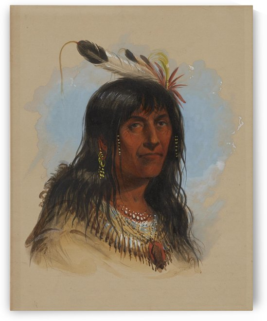 Big Bowl - Indian Chief by Alfred Jacob Miller