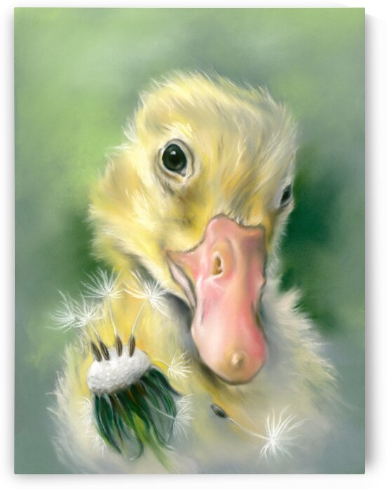 Yellow Gosling Dandelion Wishes by MM Anderson