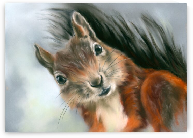 Tree Squirrel Red and Gray by MM Anderson