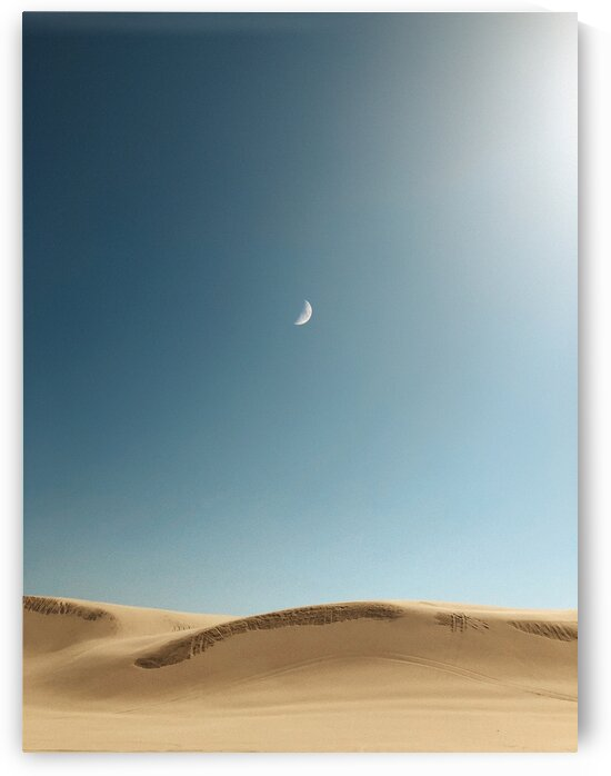 Moons over dunes by 5280Images
