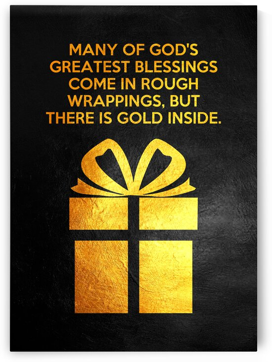 Greatest Blessings Motivational Wall Art by ABConcepts