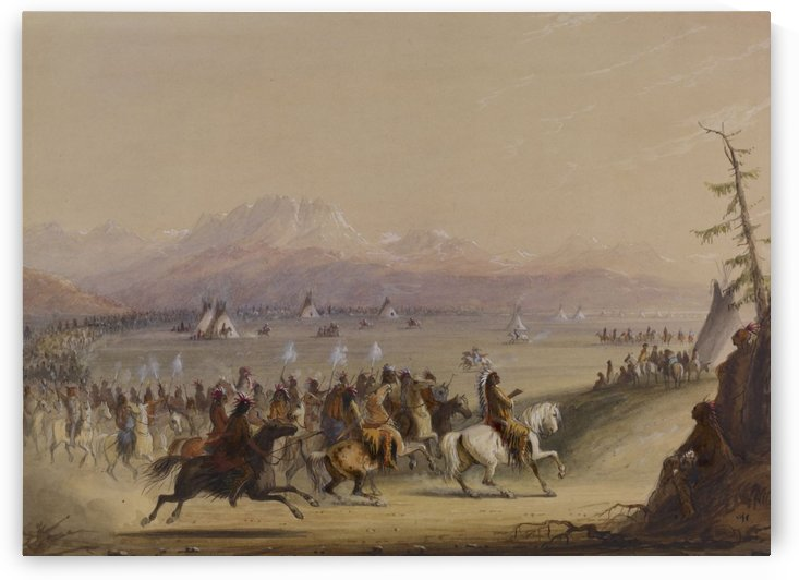 Cavalcade by Alfred Jacob Miller