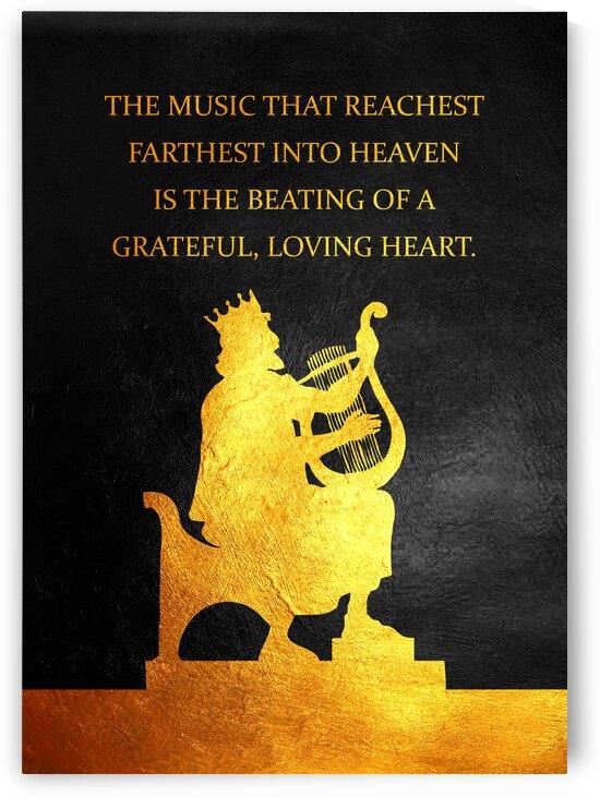 King David Playing Harp Motivational Wall Art by ABConcepts