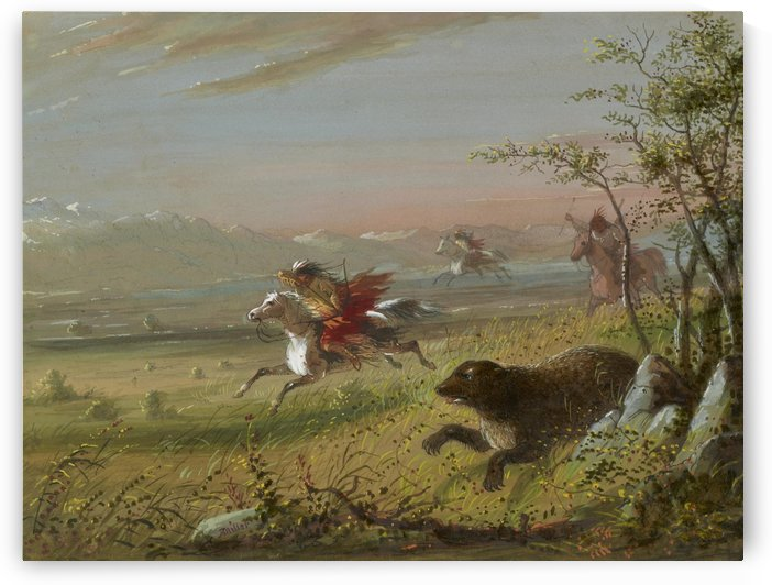 The Grizzly Bear by Alfred Jacob Miller