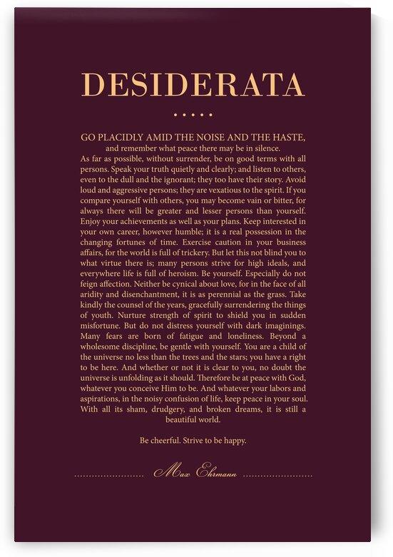 Desiderata - Max Ehrmann - Typographic Print - Literary Poster 13 by Studio Grafiikka