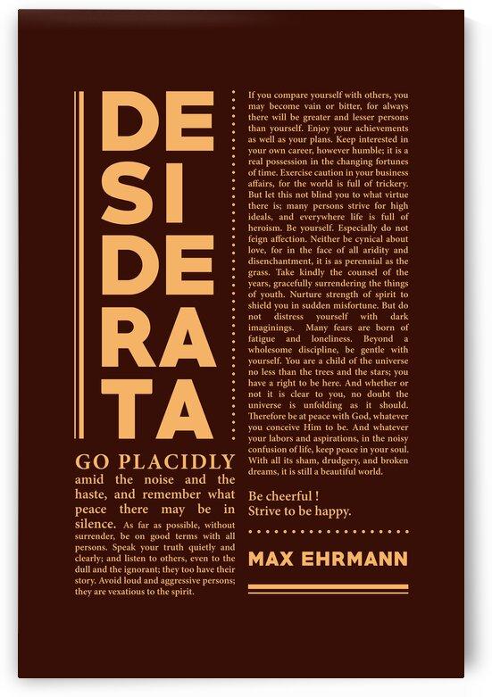 Desiderata - Max Ehrmann - Typographic Print - Literary Poster 22 by Studio Grafiikka