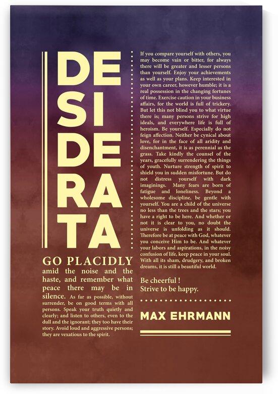 Desiderata - Max Ehrmann - Typographic Print - Literary Poster 23 by Studio Grafiikka