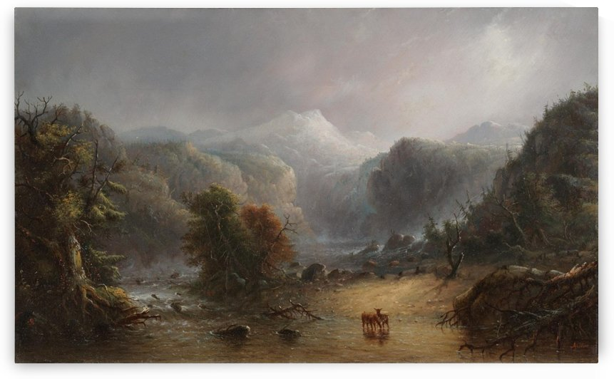 Where the clouds love to rest by Alfred Jacob Miller
