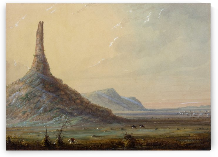 Chimney Rock by Alfred Jacob Miller